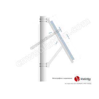 Стойка за соларен панел за монтаж на стълб P4290